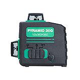 Профессиональный лазерный 3D уровень с зеленым лучом FUBAG Pyramid 30G V2х360H360, фото 6