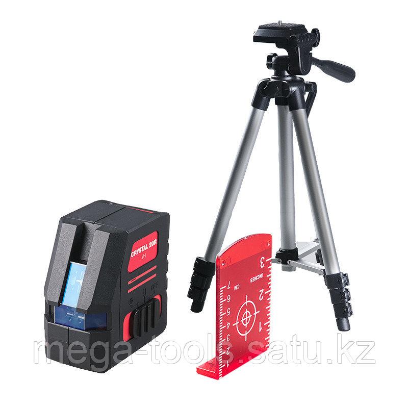 Профессиональный лазерный уровень FUBAG Crystal 20R VH Set с набором аксессуаров