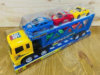 700-2 Speed Truck трейлер 5 спортивная машина в колбе 36*14см