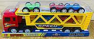 700-6 Speed truck трейлер 5 машина (3 перевертыш+2спорт) в колбе 37*13см, фото 2