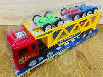 700-6 Speed truck трейлер 5 машина (3 перевертыш+2спорт) в колбе 37*13см
