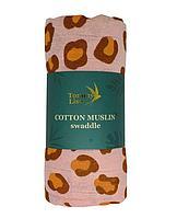 Муслиновая пеленка  CORAL LEOPARD 120*120 см Tommy Lise