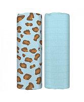 Муслиновая пеленка BLUE LEOPARD 70*70 см Tommy Lise 2шт