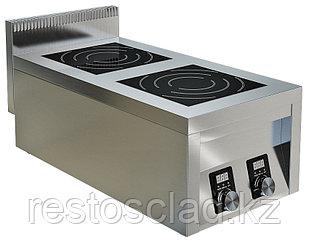 Плита индукционная ТЕХНО-ТТ ИПП-210134 двухконфорочная плоская