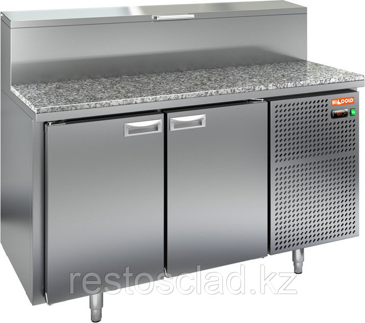 Стол охлаждаемый для пиццы HICOLD PZ2-11GN (1/6H) с гранитной столешницей