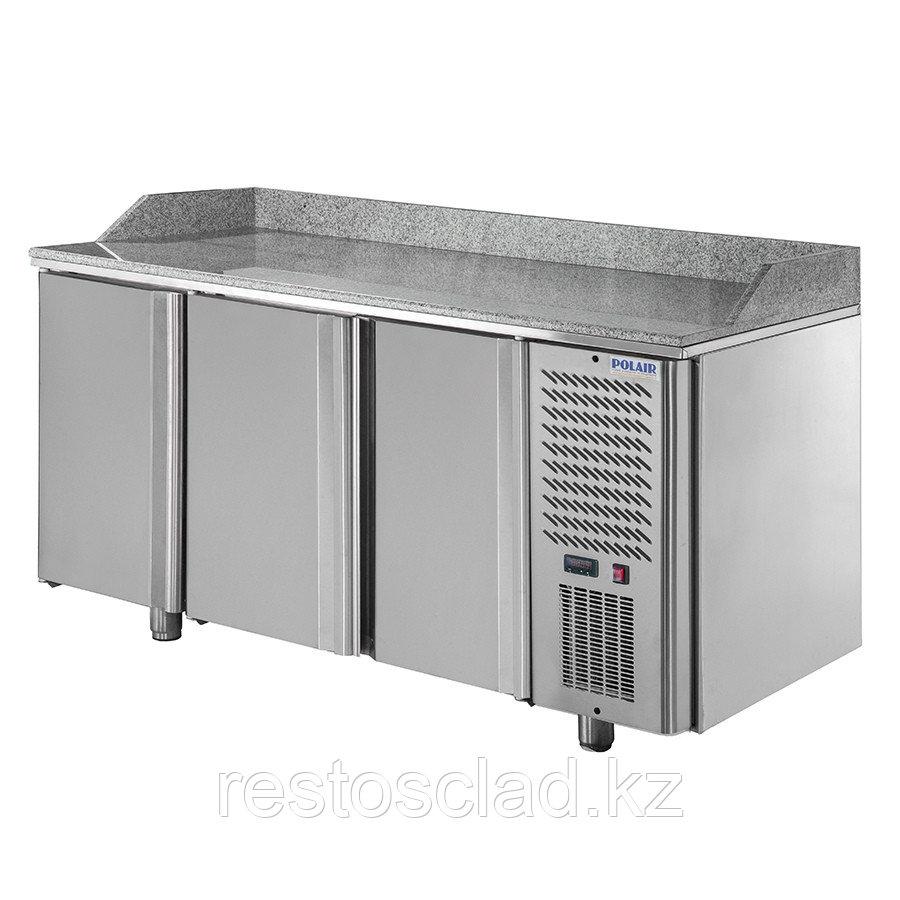 Стол охлаждаемый для пиццы POLAIR TM3GNpizza-G с гранитной столешницей