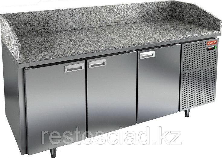 Стол охлаждаемый для пиццы HICOLD PZ3-111/GN с гранитной столешницей без витрины