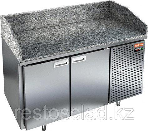 Стол охлаждаемый для пиццы HICOLD PZ3-11/GN с гранитной столешницей без витрины