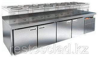 Стол охлаждаемый под тепловое оборудование HICOLD GN 1111/TN LT SH на низких ножках