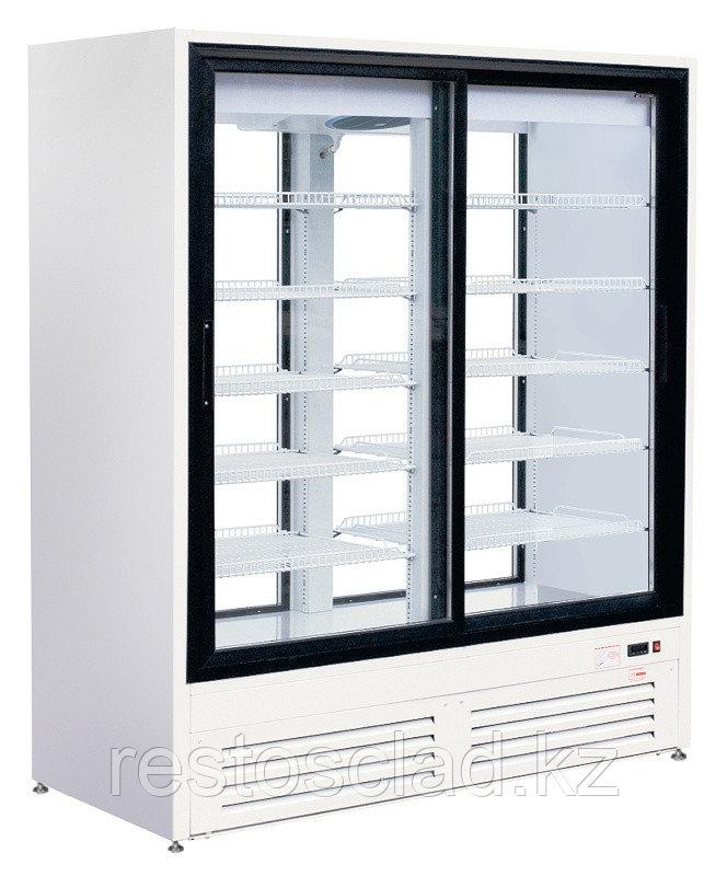 Шкаф холодильный ПРЕМЬЕР ШВУП1ТУ-1,4К2 (двери-купе, остекление с двух сторон)