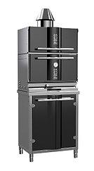 Гриль-печь на углях KOPA 300SC с тепловым шкафом на подставке