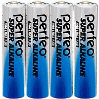 Батарейка алкалиновая Perfeo Super Alkaline, AАA, LR03-SH4, 1.5В, плёнка, цена за 1 шт.