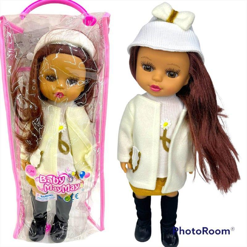 590-G Кукла Baby May May со звуком в зимней одежде в сумочке 41*16 (качественная)