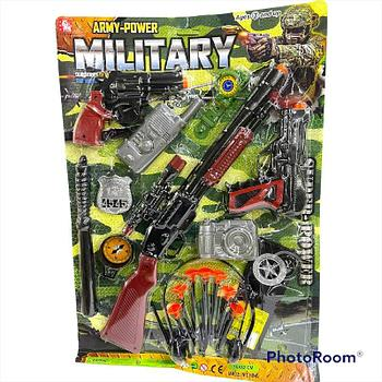 2626-5 Набор Army power military 12 предметов на картонке 51*36см