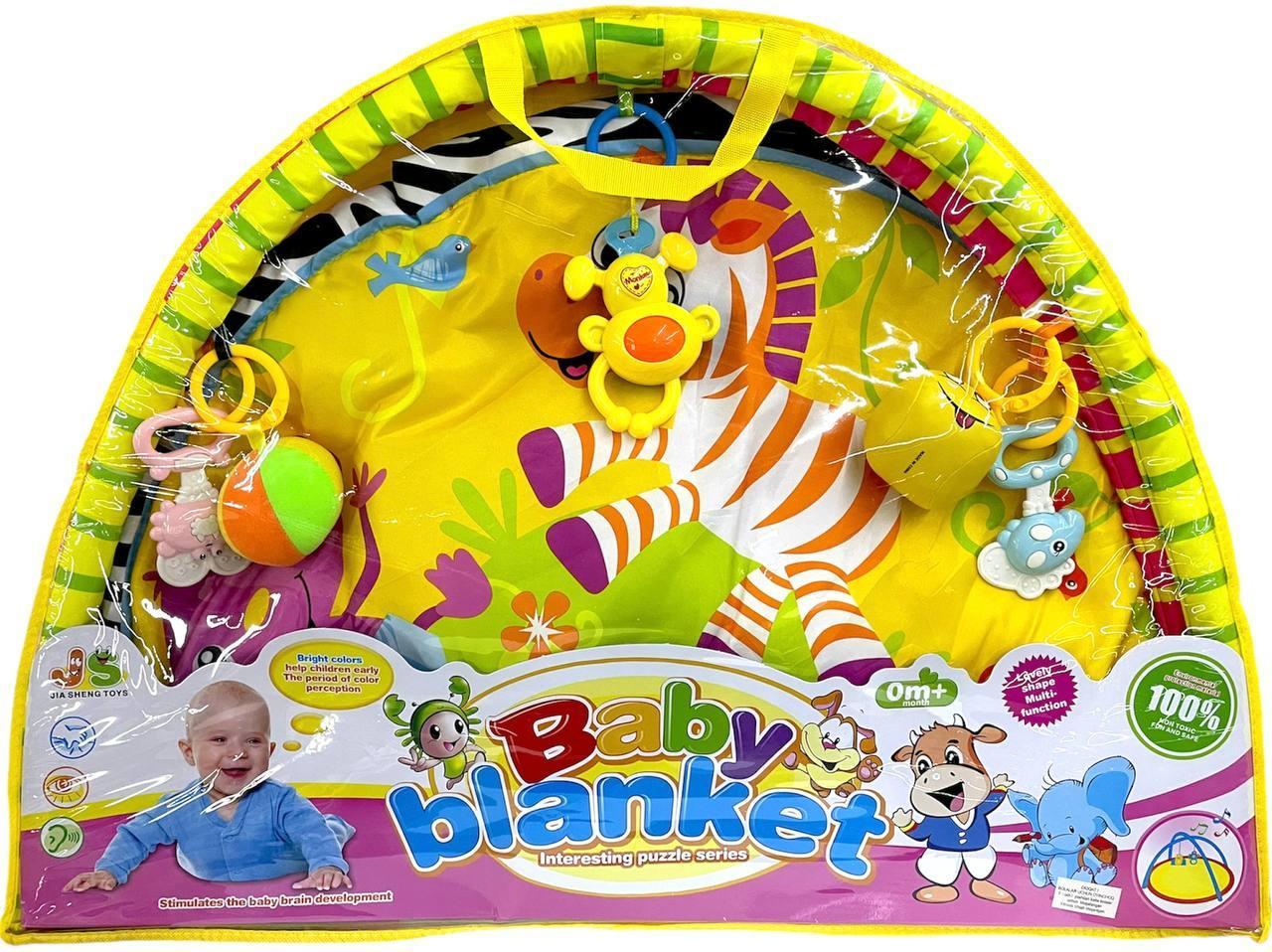 518-04 Развивающий коврик Baby blank Ket с дугой и погремушками 79*57см