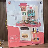 Детская интерактивная кухня 838B красный 76см