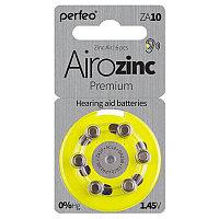 Батарейка цинковая Perfeo Airozinc Premium, ZA10 (PR70)-6BL, для слуховых аппаратов, 1.45В, блистер, цена за 1