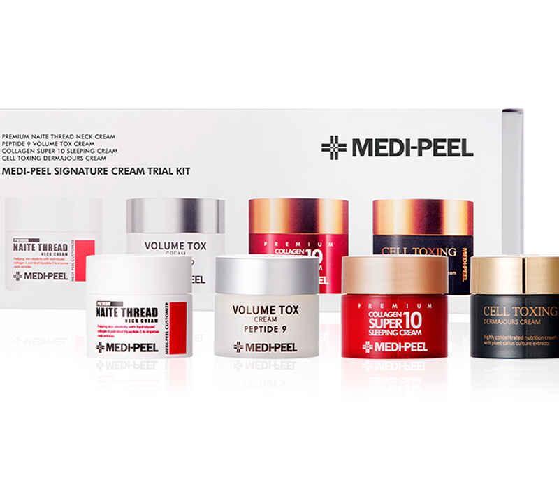 MEDI-PEEL Антивозрастной набор на интенсивное восстановление Signature Cream Trial Kit 4ea