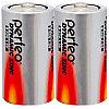 Батарейка солевая Perfeo Dynamic Zinc, D, R20-SR2, 1.5В, плёнка, цена за 1 шт.