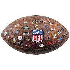Мяч для американского футбола Wilson NFL Off Throwback 32 Team Logo