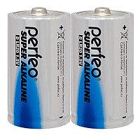 Батарейка солевая Perfeo Super Alkaline, D, LR20-SR2, 1.5В, плёнка, цена за 1 шт.
