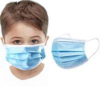 Детская маска на резинках со вставкой одноразовая трехслойная медицинская