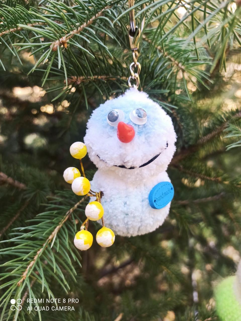 Интерьерная игрушка Снеговик-малыш (брелок)