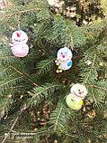 Интерьерная игрушка Снеговик-малыш (брелок), фото 4