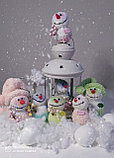 Интерьерная игрушка Снеговик-малыш (брелок), фото 5