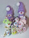 Интерьерная игрушка Снеговик-малыш (брелок), фото 6