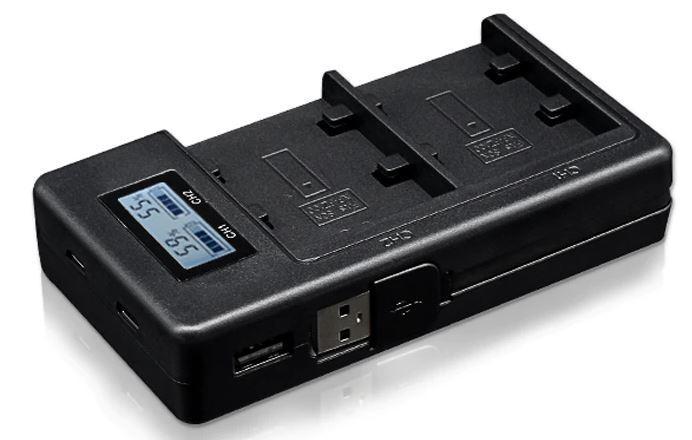 USB двойное зарядное устройство с дисплеем для аккумулятора Sony NP-FZ100