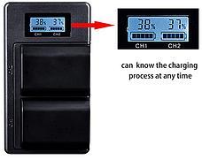 USB двойное зарядное устройство с дисплеем для аккумулятора Sony NP-FZ100, фото 2