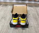 Баскетбольные кроссовки Air Jordan 1 Retro High 'Yellow Toe Black', фото 3