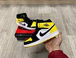 Баскетбольные кроссовки Air Jordan 1 Retro High 'Yellow Toe Black', фото 2