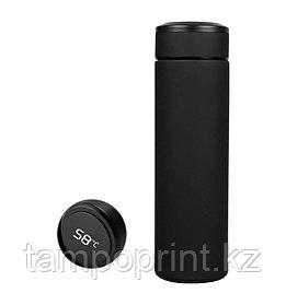 Умный термос с термометром (софт тач) 500мл