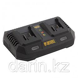 Устройство зарядное для аккумуляторов IBC-18-3.0-2, Li-Ion, 18В, 3.0 А, для двух батарей Denzel