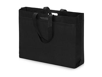 Сумка для покупок из спанбонда Ambit, 400*380*120 с ручкой 550/30 мм, черный