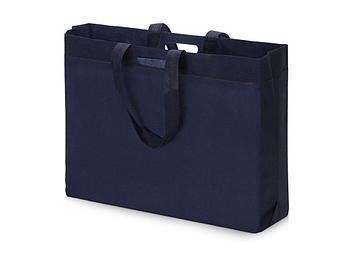 Сумка для покупок из спанбонда Ambit, 400*380*120 с ручкой 550/30 мм, синий