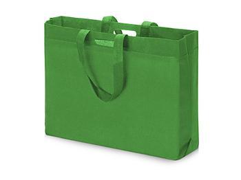 Сумка для покупок из спанбонда Ambit, 400*380*120 с ручкой 550/30 мм, зеленое яблоко