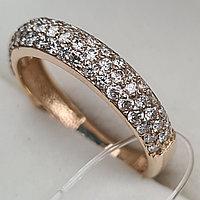 Золотое кольцо с бриллиантами 0.83Сt VS1/H, фото 1