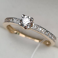 Сертификат IGI 0.49Сt VVS1/L, Good - Cut Золотое кольцо с бриллиантами, фото 1