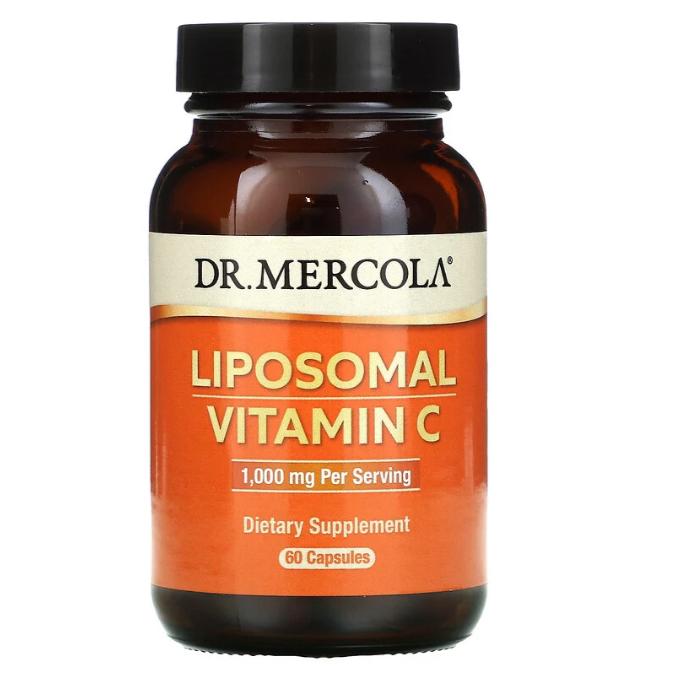 Dr. Mercola, липосомальный витамин С, 1000 мг, 60 капсул