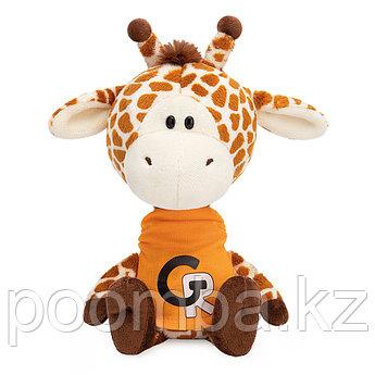Мягкая игрушка Жирафик Жан в оранжевой футболке