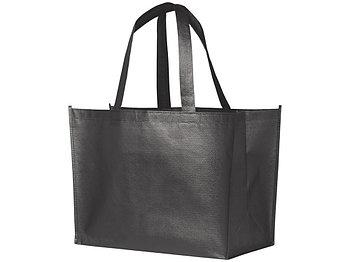 Ламинированная сумка-шоппер Alloy, стальной серый