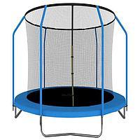 Батут ONLITOP, d=183 см, с внутренней сеткой, цвет синий