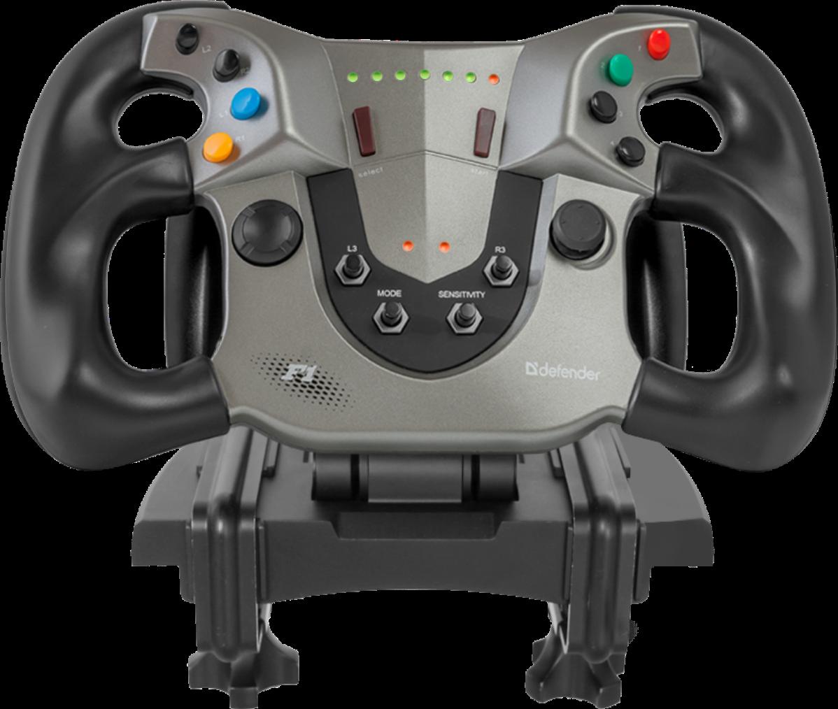 Игровой руль Defender Forsage Sport USB-PS3 датчик Холла, 12кнопок