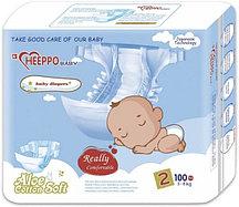 Подгузник Heeppo Baby для мальчиков 3-6 кг (100 шт)