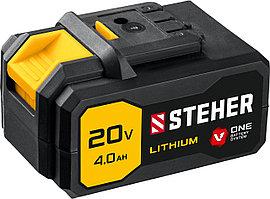 STEHER Li-Ion, 20В, тип V1, аккумуляторная батарея V1-20-4