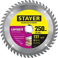 STAYER 250 x 32/30 мм, 72Т, диск пильный по ламинату Laminate 3684-250-32-72_z01