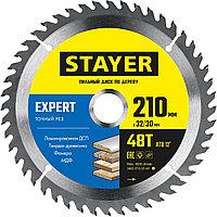 STAYER  210 x 32/30 мм, 48Т, диск пильный по дереву Expert 3682-210-32-48_z01